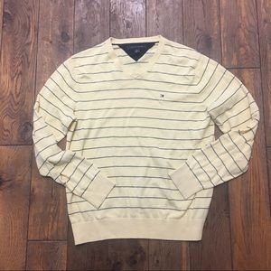 Tommy Hilfiger Yellow Navy Stripes Sweater M